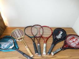 Lot of 7 Tennis Racquets Rackets Wilson  4 3/8 L3 + other si
