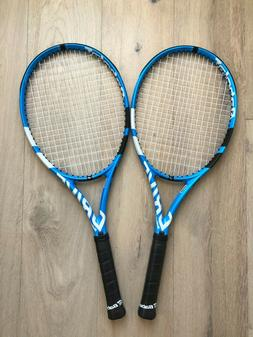 TWO Babolat 2018 Pure Drive Tennis Racquets 4 3/8